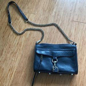 Navy Blue Rebecca Minkoff Mini MAC Bag